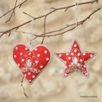 Red embellished decorations