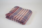 Cottage Check Plum pure new wool throw