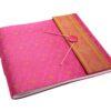 Large Pink Sari Album