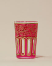 Moroccan tea glass Cristo pink