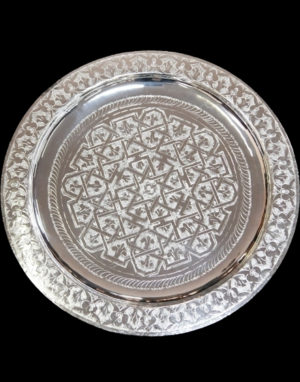 Silver finish tray