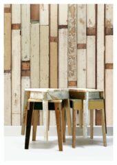 PHE01 Scrapwood wallpaper